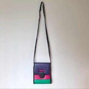 Vintage Color Block Crossbody Purse